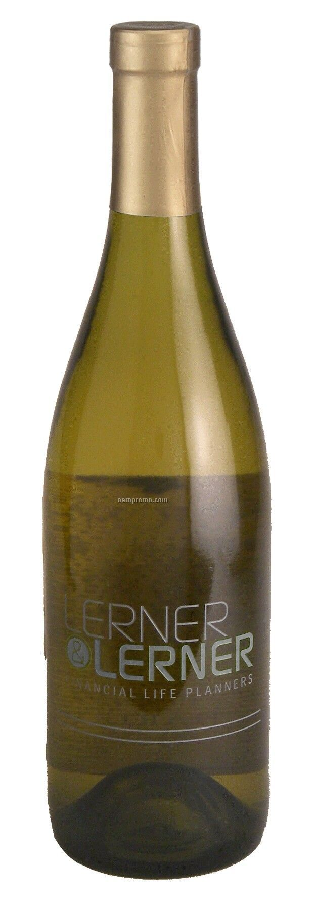 750ml Standard Chardonnay Wine Etched W/ 1 Color Fill