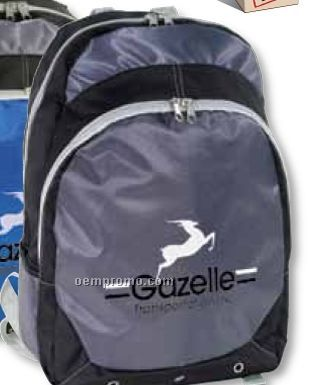 Sport Backpack W/ Contrasting Material Colors