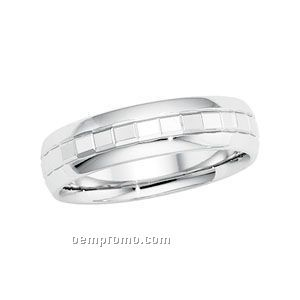 14kw 6mm Ladies Comfort Fit Wedding Band Ring (Size 7)