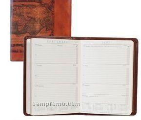Ladies Croco Calfskin Address/ Telephone Book (Sunset Orange)