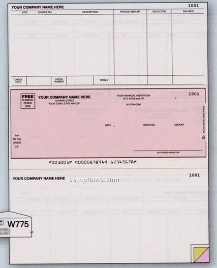 Laser Accounts Payable Check - Timberline Compatible (1 Part)