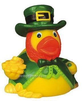 Rubber Lucky Leprechaun Duck