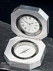 Stainless Steel Clock / Compass