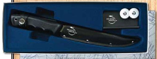 Fillet Knife & Sharpener Gift Set