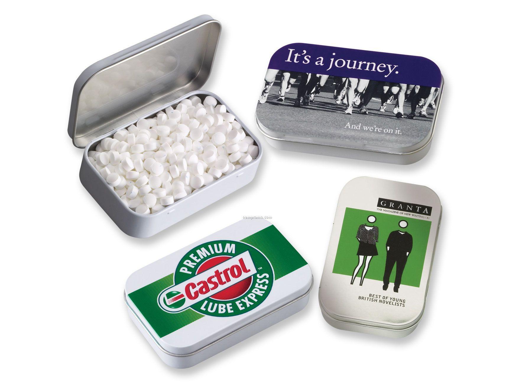 Rectangular Tin W/ Sugar-free Micromints