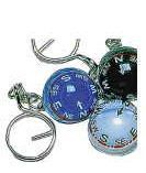 "1"" Plastic Ball Compass Key Chain"