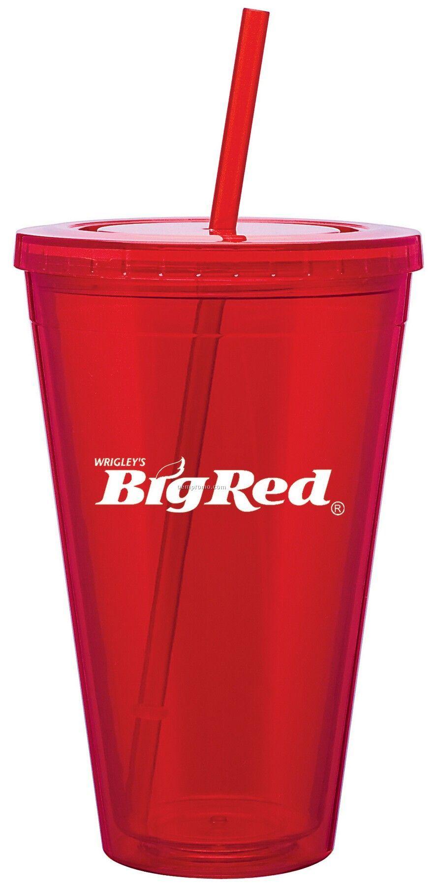 24 Oz. Red Spirit Tumbler Cup