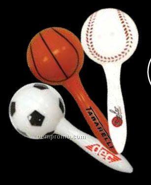 "7"" Soccer Ball Sports Maraca"