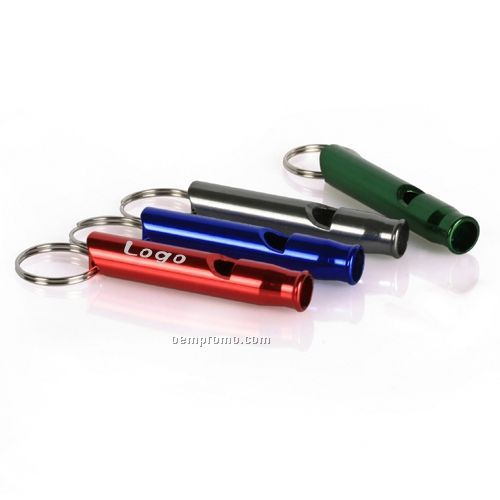 Aluminum Safe Whistle With Keyring