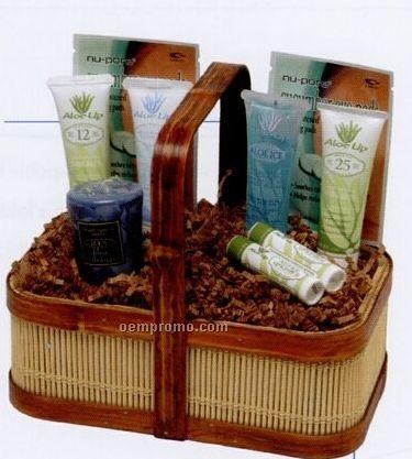 Barbados Woven Reed Basket W/ Small Original Formula Products