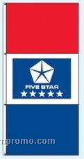 Double Face Dealer Free Flying Drape Flags - Five Star Blue