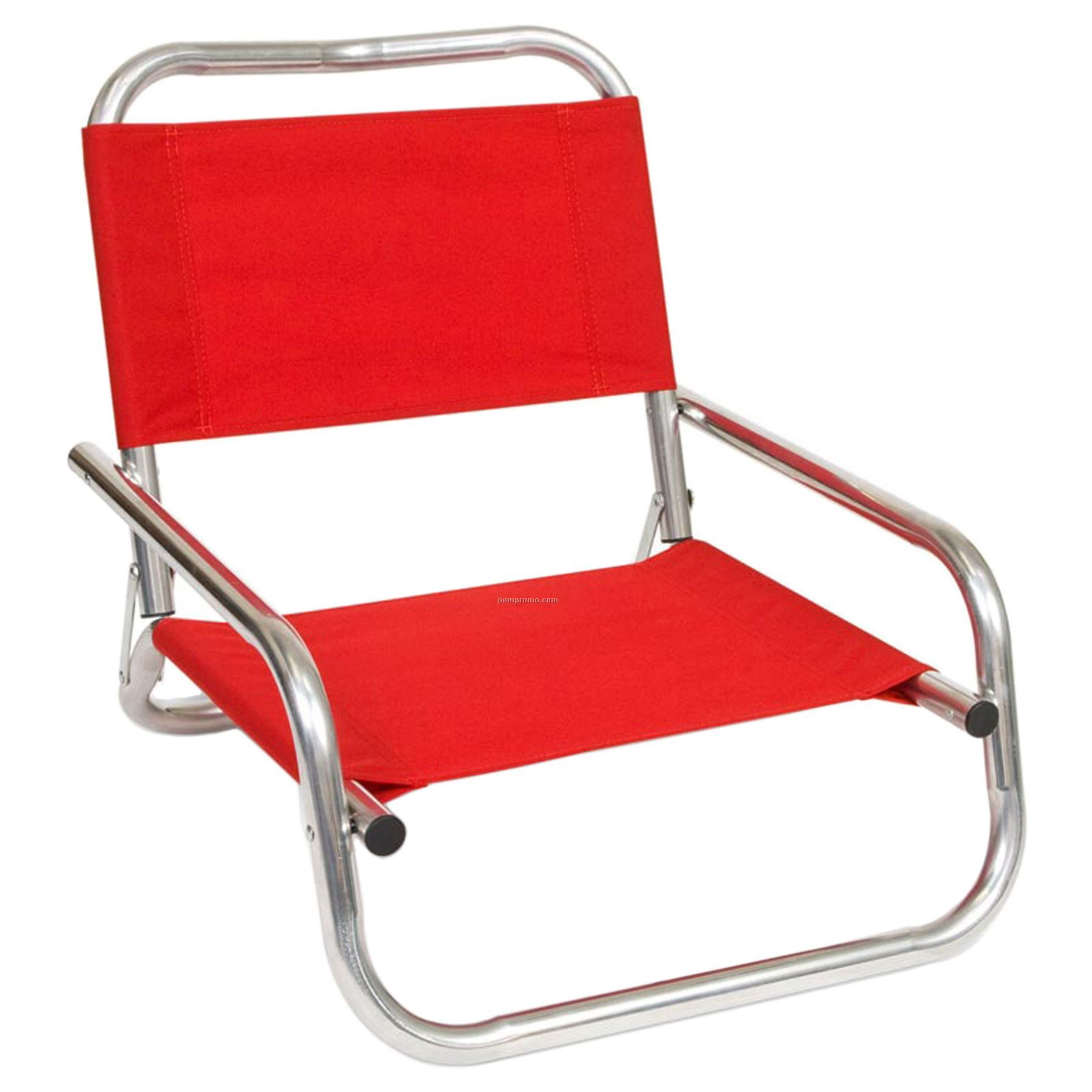 Imported Folding Aluminum Low Back Beach Chair