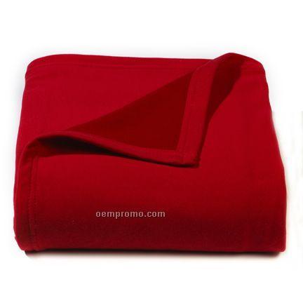 Red Sweat Shirt Fleece Blanket