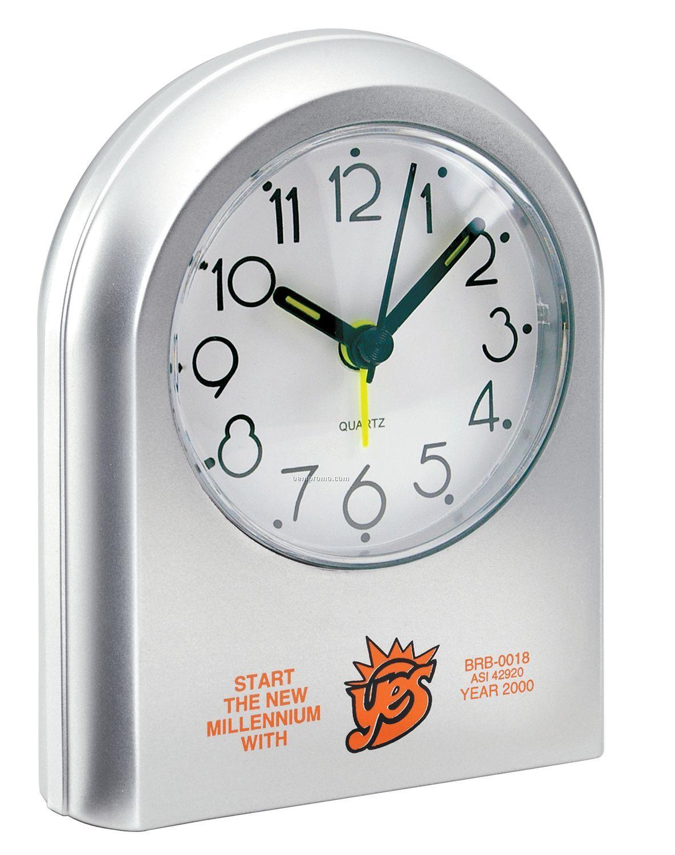 Silver Arch Abstract Art Alarm Clock