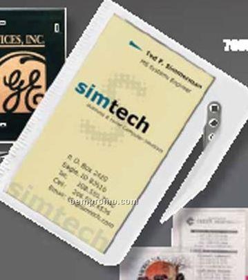White Business Card Letter Opener