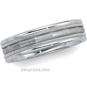 14kw 6mm Men's Comfort Fit Wedding Band Ring (Size 11)