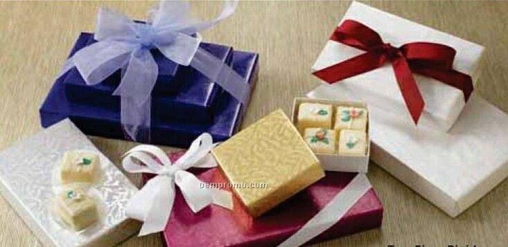 3 Oz. Two Piece Folding Candy Boxes W/ White Bases