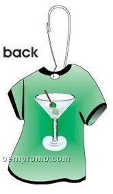 Martini T-shirt Zipper Pull