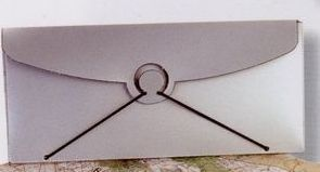 "Tinted & Frosted Elastic Closure Envelope (9-1/2""X4""X3/8"")"