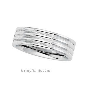 14kw 4mm Ladies Comfort Fit Wedding Band Ring (Size 7)