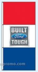 Double Face Dealer Free Flying Drape Flags - Built Ford Tough