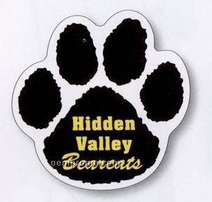 "Paw Print Magnetic 0.035"" Vinyl Car Sign (11 1/2""X11 1/2"")"
