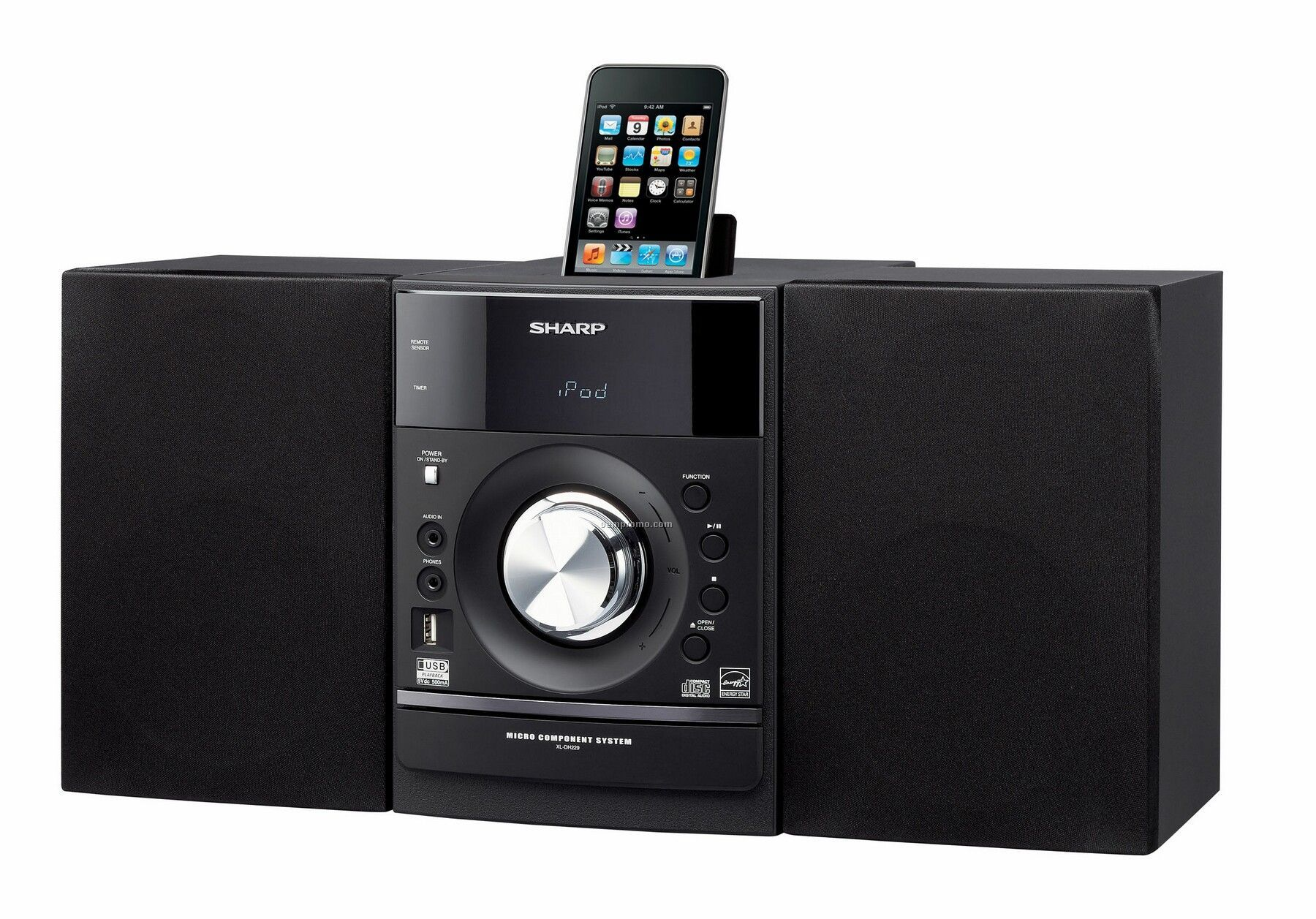Sharp Ipod Docking Micro Shelf System