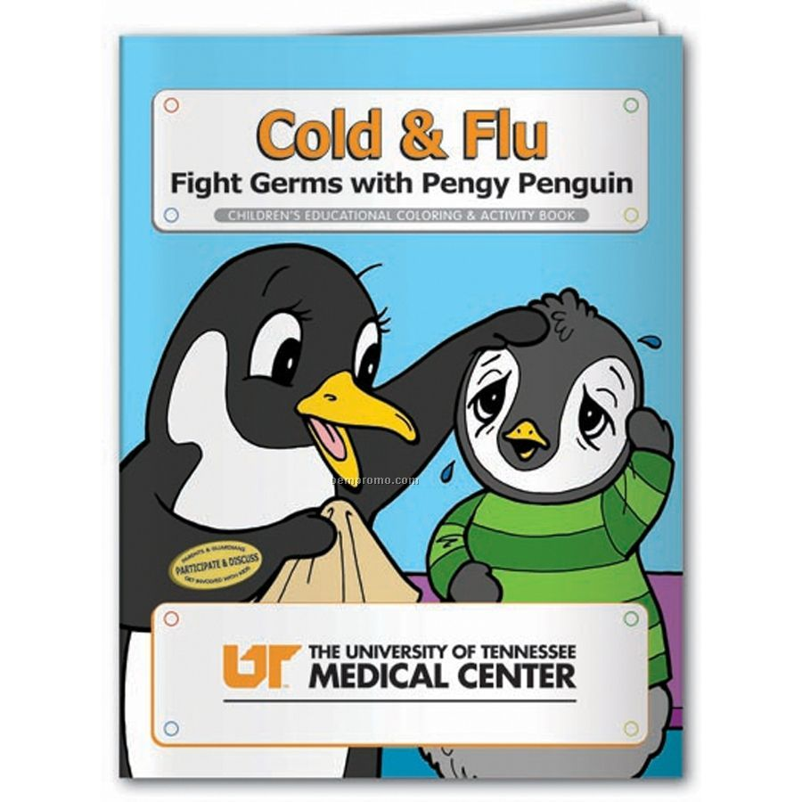 Coloring Book - Cold & Flu Fight Germs W/Peggy Penguin
