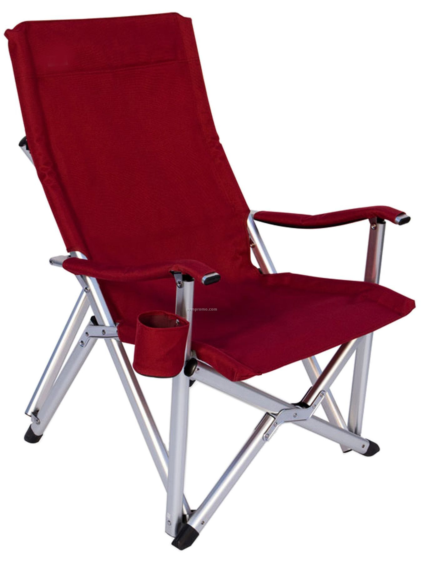 Imported Deluxe Folding High Back Aluminum Arm Chair W 375 Lb