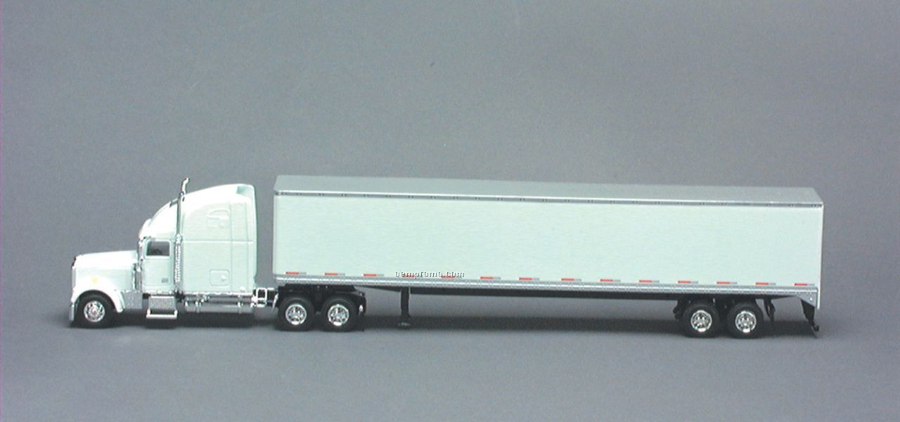 White Freightliner Classic Xl With 53' Trailer And Single Rear Door