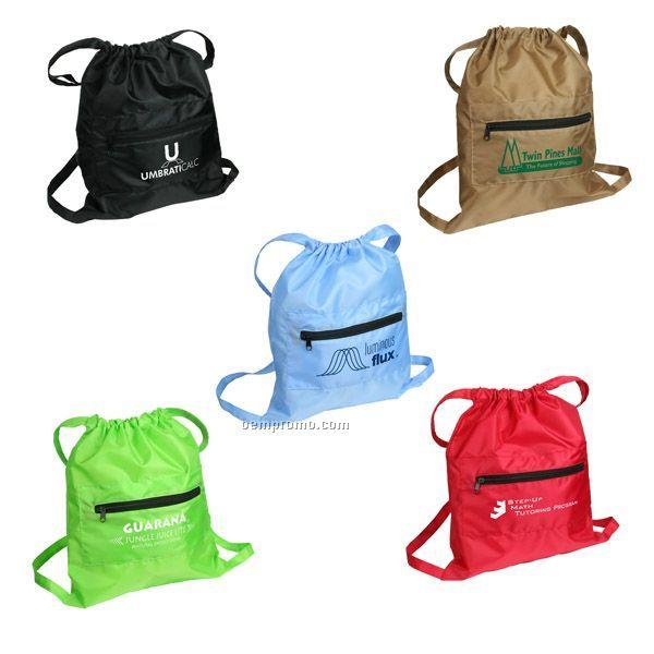 Solstice Foldable Drawstring Backpack