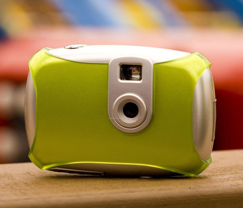 "Sporty Digital Camera W/ Self Timer (3 5/8""X1""X2 1/2"")"