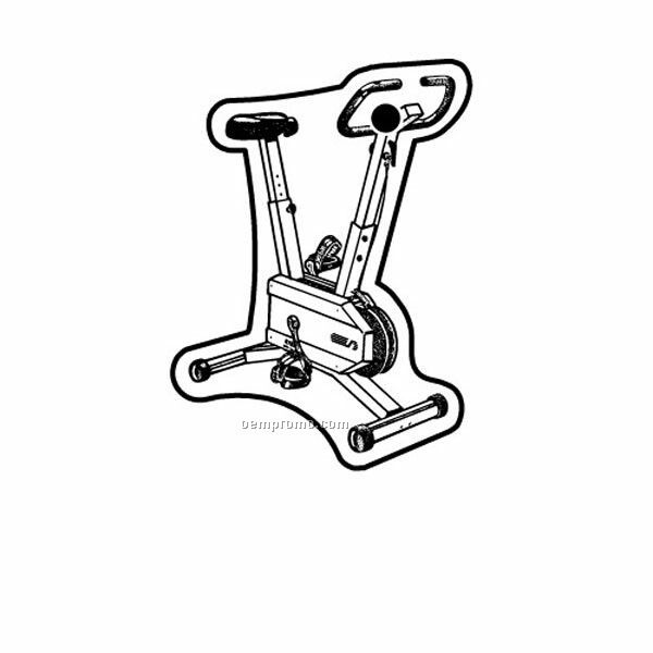 Stock Shape Collection Exercise Bike Key Tag