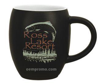 16 Oz. Black Matte 2 Tone Rotunda Mug