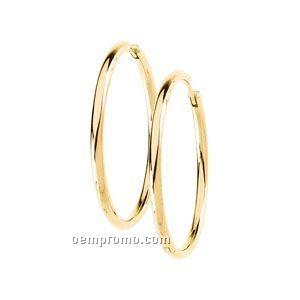 38-3/4mm Ladies' 14ky Hinged Earring