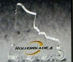 Acrylic Paperweight Up To 12 Square Inches / Rollerblade