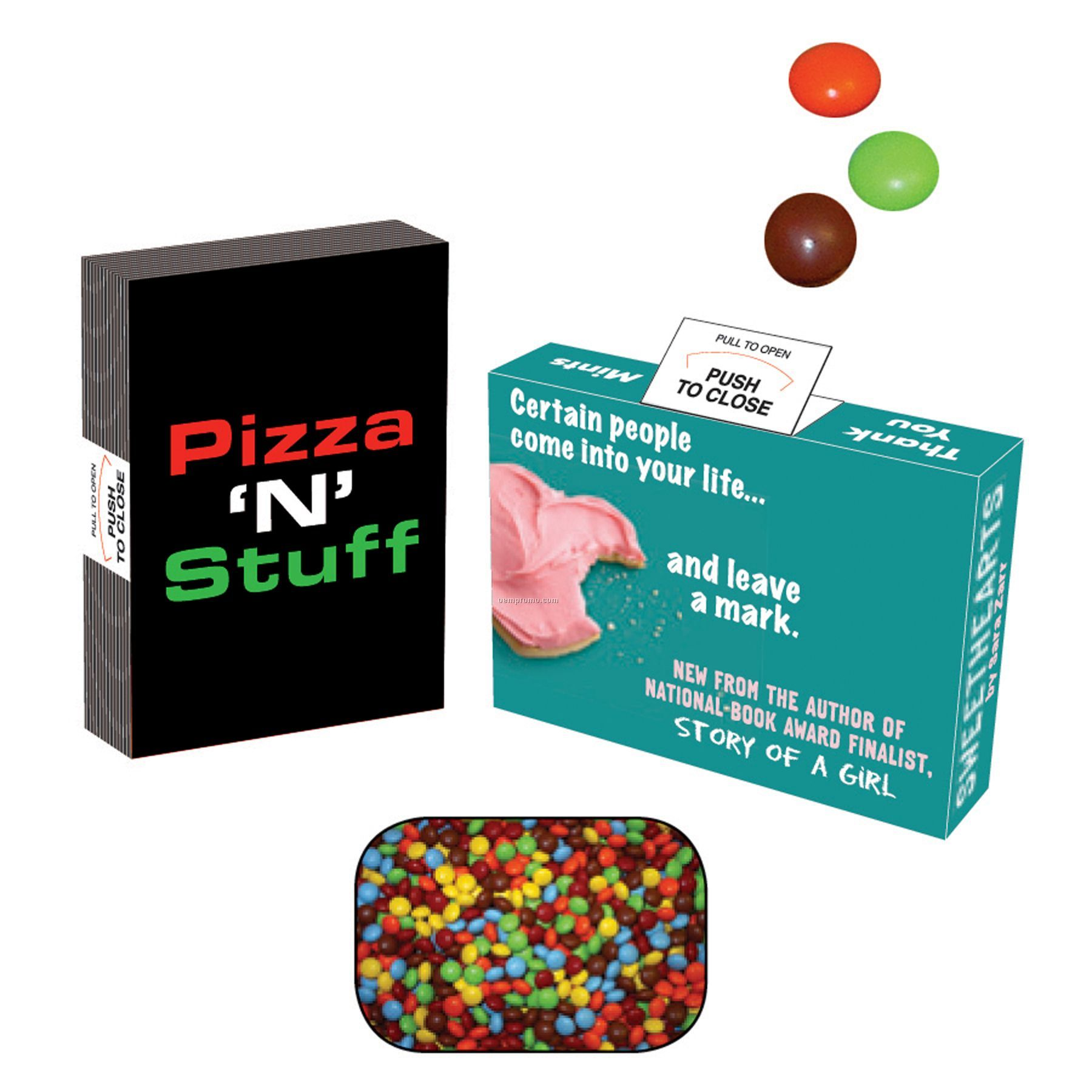 Advertising Mint, Candy & Gum Box Filled With Mini Chocolates