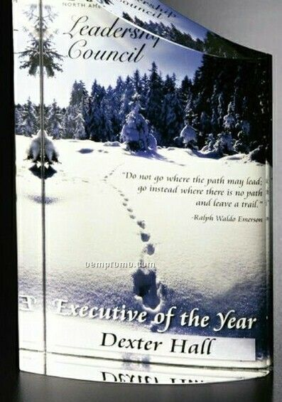 "Crystal Illumachrome Pacifico Award (4""X8""X1 3/4"")"