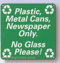 "Custom 0.055"" Polyethylene Plastic Sign (18 To 28 Square Inch)"