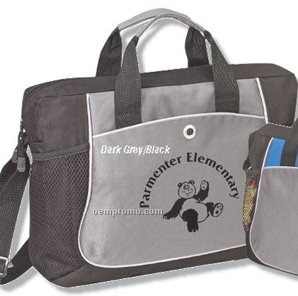 """Q-tees Deluxe Briefcase (16""""X12""""X3"""")"""