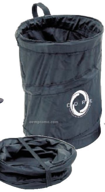 Round Pop Open Car Trash And Storage Accessory
