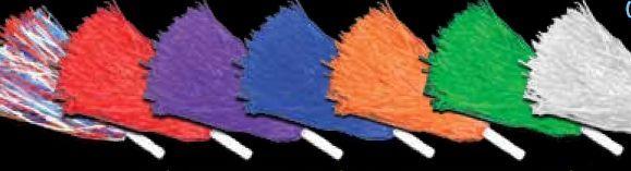 "16"" Purple Plastic Pom Poms"
