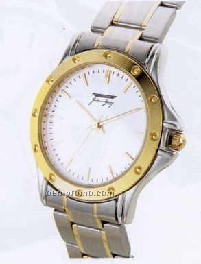 Seafaring Ladies' Dress Watch With 2 Tone Stainless Steel Band