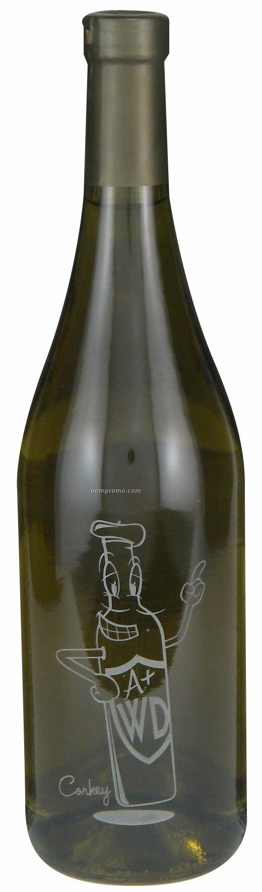 750ml Standard Chardonnay Etched With No Color Fill