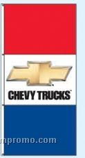 Double Face Dealer Free Flying Drape Flags - Chevy Trucks