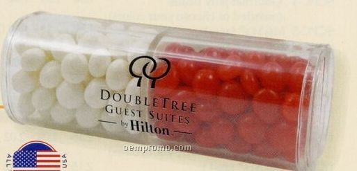Red Hots And White Mints In Half N' Half Candy Container