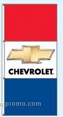 Double Face Dealer Free Flying Drape Flags - Chevrolet