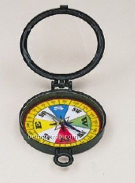 Plastic Magnifying Glass W/ Compass