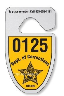 "Shield Hang Tag Parking Permit (0.035"" Recycled Polyethylene)"