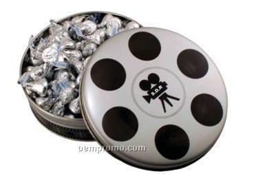 Small Movie Reel Tin W/ Honey Roast Peanuts ( 2 Day Service)